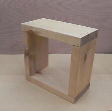 Cube side table coffee bed/lamp Chunky Rustic Style Handmade Solid Wood