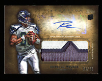 Russell Wilson 2012 Topps Inception Auto 3 color Patch #/75 Rookie Rc Autograph