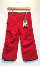 Quiksilver Junior Youth Boy Surface Insulated Snowboard Pants Red Medium NEW