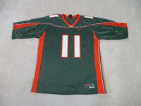Nike Miami Hurricanes Football Jersey Adult Large Green Orange UM Canes Men B76*