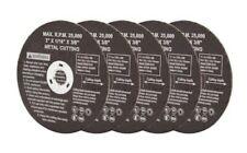 "Kobalt 3"" Metal Cutting Discs Thick Steel Abrasive Wheels-5 Discs-NEW"