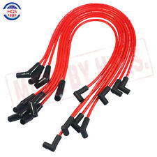 RED Spiral Core SPARK PLUG WIRES 45 DEGREE END For BBC CHEVY 396-427-454-502 NEW