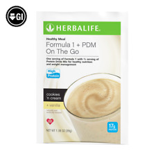 HERBALIFE HEALTHY MEAL Formula 1 & 17g PROTEIN DRINK MIX on the go 7 small bags