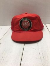 Austin Healey Official Snapback Hat - Red Trucker Style - Mesh Vintage