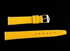 14 mm Original Yellow Leather Gucci Watch Strap Band 14MM S CC