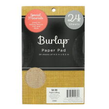 """American Crafts Dcwv 4.5"""" X 6.5 Natural Colored Burlap Sheets Stack Collection -"""