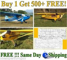 Piper J3 Cub Giant Scale RC Airplane Full Size Plans and Template in PDF Format