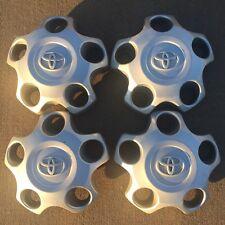 2007-2014 TOYOTA TUNDRA Silver Steel Wheel Hub Cap CENTER CAPS OEM Set Of 4 Nice