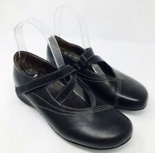 Wolky Women Passion Mary Janes Shoes Sz 37 6 Black Leather Euro Comfort