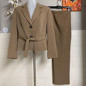 Jones New York 2 Piece Pants Suit 2 Buttons Long Sleeves Blazer Size 8P