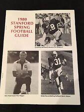 Stanford Cardinal 1980 Spring Football Guide Prospectus John Elway RARE