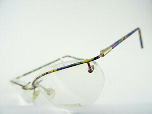 Fröhliche, Colourful Women's Glasses Cateye Randlosfassung half Rim Funky Size M
