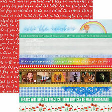 Paper House WIZARD OF OZ BORDERS 12x12 Dbl-Sided Scrapbooking Paper