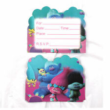 10 x Trolls Birthday Invitation Cards Themed Party supply invitations AU stock
