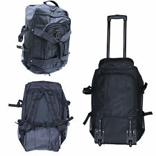 Kendo Bogu Rolling Backpack Wheels Back Panel Shoulder Straps 3 Front Pockets GR