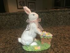 Midwest Of Cannon Falls Easter Bunny Rabbit W/Cart Full Of Eggs Sugared Wt