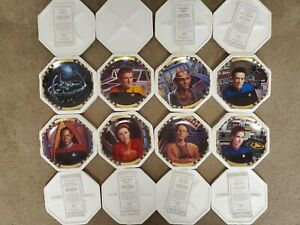 Star Trek Deep Space 9 Collectible Plates Lot Of 8