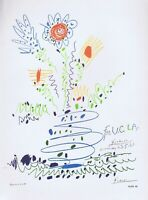 Pablo Picasso,For U.C.L.A.1961 Vintage Poster offset Lithograph 1964 Platesigned