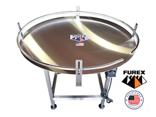 """Furex 48"""" Dia. Stainless Steel Accumulating Rotary Table"""
