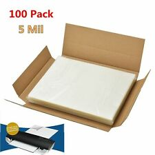 100 Clear Letter Size Thermal Laminator Laminating Pouches 9 X 115 Sheets 5 Mil