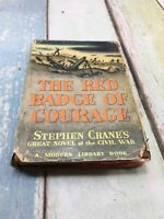 The Red Badge of Courage Stephen Crane Modern Library 1951 with DJ