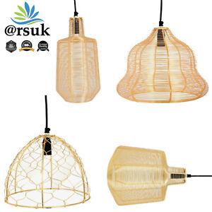 Pendant Light Ceiling Chandelier Lamp Shade Basket Cage Retro Style & suspension