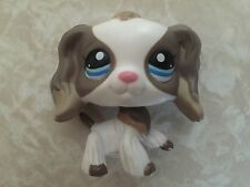 Littlest Pet Shop RARE Cocker Spaniel Dog Puppy #2254 Grey Gray White Mocha LPS
