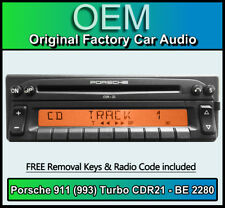Porsche 911 (993) Turbo CDR21 Radio Becker BE 2280 CD player stereo code