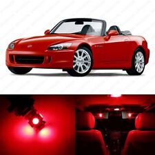 7 x Brilliant Red LED Interior Lights Package For 2000 - 2009 Honda S2000 + TOOL