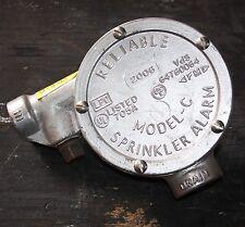 Reliable model C mechanical fire sprinkler alarm pelton wheel drive