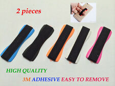 2 Universal Elastic Tablet Cell Phone Finger Grip Holder Strap Retail Package