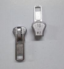 1 Cursore Auto Bloccante per cerniera catena 10 in plastica colore argento