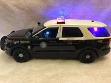 1/18 SCALE DIECAST FLORIDA TROOPER K-9 UNIT PD SUV W/WORKING LIGHTS AND SIREN
