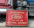 VINTAGE 1950s FORD TRACTOR LIGHTED ADVERTISING SIGN GAS OIL NEON FARM FEED SEED