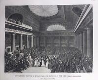 Assemblée Nationale en 1789 Femmes d'artistes Révolution Française Rare Gravure