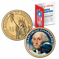 SAN DIEGO CHARGERS Colorized Presidential $1 Dollar Coin Football NFL LICENSED