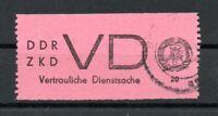DDR VD, 1965, vertrauliche Dienstsache, Mi.Nr. 2 Plattenfehler II gestempelt