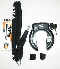 AXA Solid XL  Rahmenschloss Fahrradschloss   mit LTJ Einsteckkette 140 cm Kette