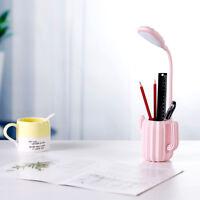 13LED Schreibtischlampe Studenten USB Tischleuchte TischLampe mit Stift Halter