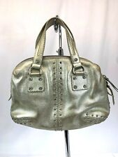 Michael Kors Gold Leather Handbag With Gold Studs And Hardware