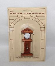 """Vintage Doll House Wood FLIC """"GRANDFATHER CLOCK"""" In Original Package"""