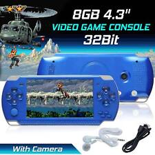 "Portable PSP Handheld Game Console 8GB 4.3"" 32bit 10000+Games Built-In + Camera"
