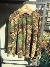 VGC SPARTAN REALTREE XL Sweatshirt Polo Top Camouflage MADE IN USA Heavyweight