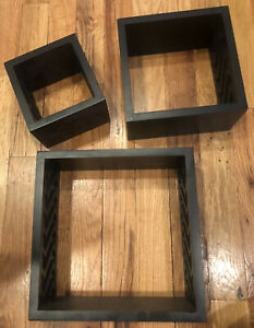 3-Piece Wall Decor Floating Shelves, Cube Shaped Hanging Wall Shelves for Home