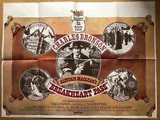 Breakheart Pass- Original British UK Quad Cinema Movie Poster - Charles Bronson
