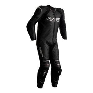 RST Tractech Evo 4 Black 1PC CE Level Motorbike Leather Racing Suit Race Hump