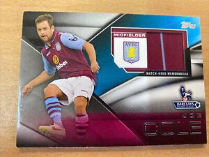 2014 Topps Premier Gold Joe Cole Relic Card Aston Villa
