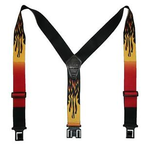 New Perry Suspenders Men's Elastic Hook End Flame Suspenders (Tall Available)