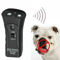 Pet Anti Dog Barking Pet Trainer LED Light Ultrasonic Gentle Chase Training 1Pcs