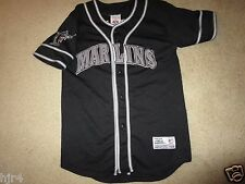 Miami Florida Marlins Mike Lowell MLB Black Jersey Youth L 14-16